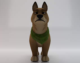 rigged realtime 3D Dog