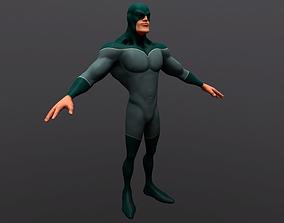SuperHero 3D asset