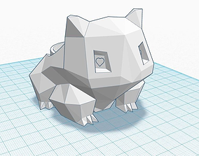 3D print model Low-Poly Bulbasaur Planter