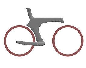 Detailed Bike Frame 3 3D model