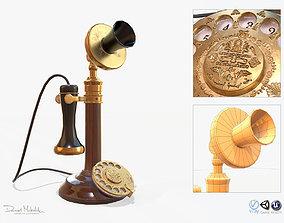 Retro Telephone 3D asset