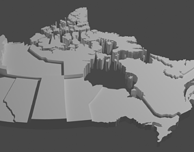 3D asset Geography - Canada