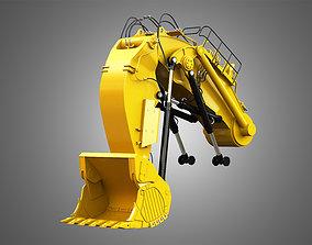 Excavator hydraulic arm and Bucket - 6030 FS 3D