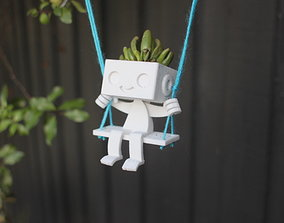 Robbie the Robot Planter - Swing 3D printable model
