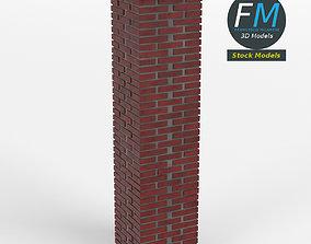 3D model Brick pillar