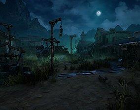 Wild West Ghost Town of Fogmourn UE4 3D model