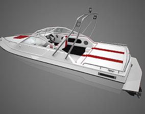 motorboat 3D model Generic Motorboat