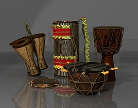 Traditional African Drum Pack 3D asset