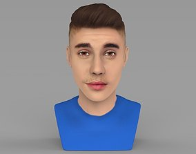 Justin Bieber bust ready for full color 3D printing