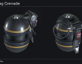 3D asset Scifi Hand Grenade Collection