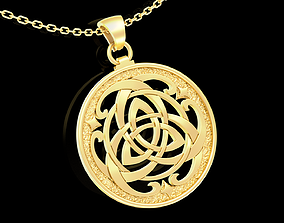 Medallion Trinity Pendant jewelry Gold 3D print model