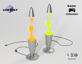 Lava lamp 3D model game-ready