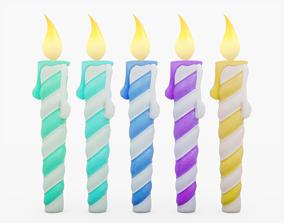Birthday Candles 3D asset