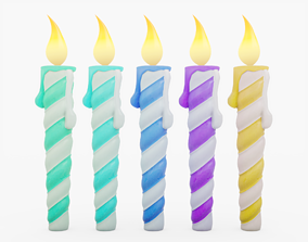 Birthday Candles 3D asset