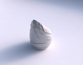 3D print model Vase Tide twisted with sharp ribbons