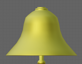 Simple Gold Bell with Animation 3D asset