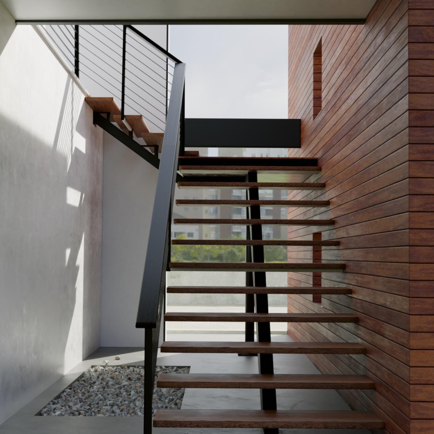 Exterior Stair render