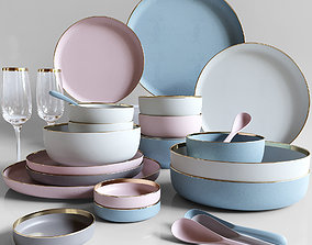 Contemporary tableware 3D