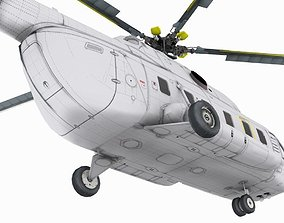 animated Mil Mi-17 3D model