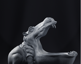 hippo 3D print model Hippo decoration