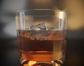 whiskey Whisky Plain Glass 3D model