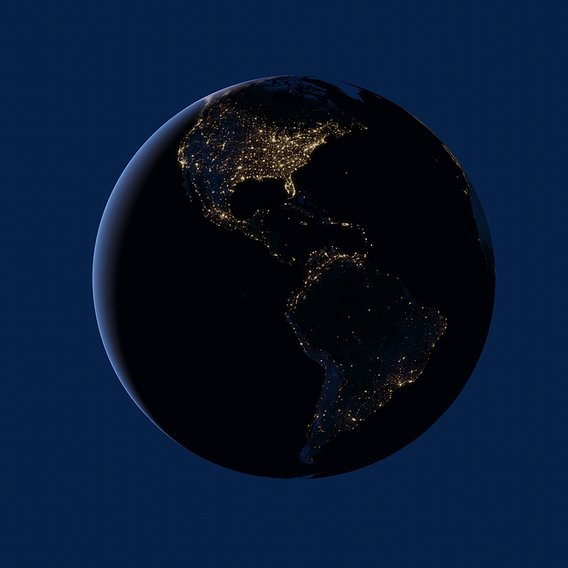 Model of our planet Earth
