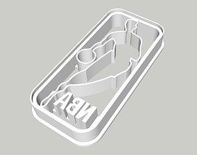NBA Logo Cookie Cutter 3 inches 3D print model