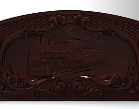 3D printable model Steam locomotive Bas relief for CNC