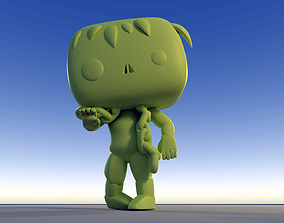 Custom Pop Zombie Living Dead Chained Figure 3D Print