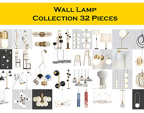 Wall Lamp Collection 32 Pieces 3D