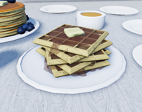 3D asset VR / AR ready Waffles