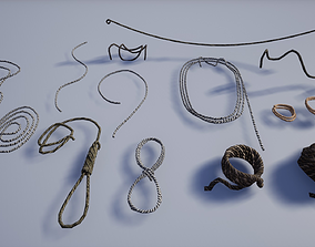 Set of Various Medieval Ropes 3D asset