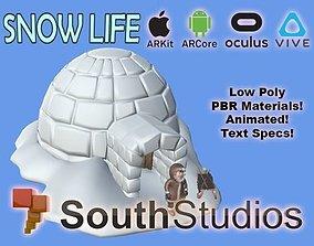 animated Animated Snow Life AR VR Unity 3dsmax
