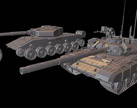 T 90 Tanks 3D printable model