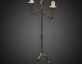 3D model realtime Candle Stand - MVL - PBR Game Ready