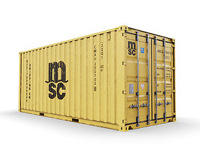 3D 20 feet MSC standard shipping container