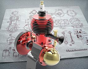 3D Model gas engine