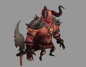 Low Poly Demon Lord 3D asset