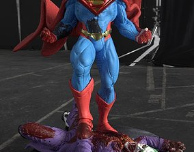 Superman kill the Joker from DC Comics Injustice STL 3D 1