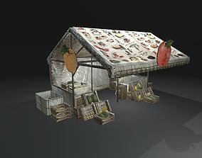 Game Ready Realistic-PBR Fruits Stand 3D asset