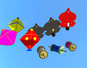 kites 3d models realtime