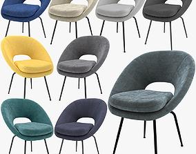 West Elm Orb Dining Chair 3D model westelm