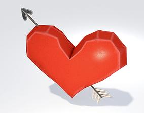 3D asset Heart and Arrow