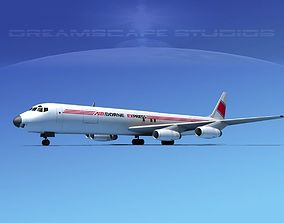 3D Douglas DC-8-63F Airborne Express