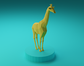 Low Poly Giraffe - 3D Modell low-poly