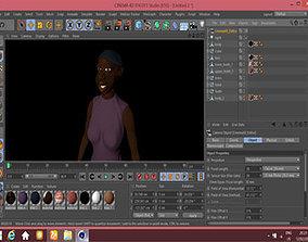 3D model African woman