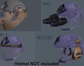 Helmet tactical gear 3D asset