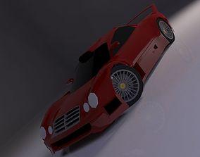 3D model Mercedes CLK-GTR 1997 LowPoly