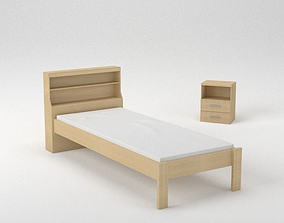 3D Bed and a Nightstand