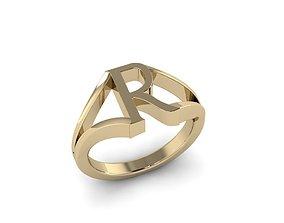 Jewelry Alphabet Ring R 3D printable model